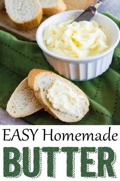 homemade butter