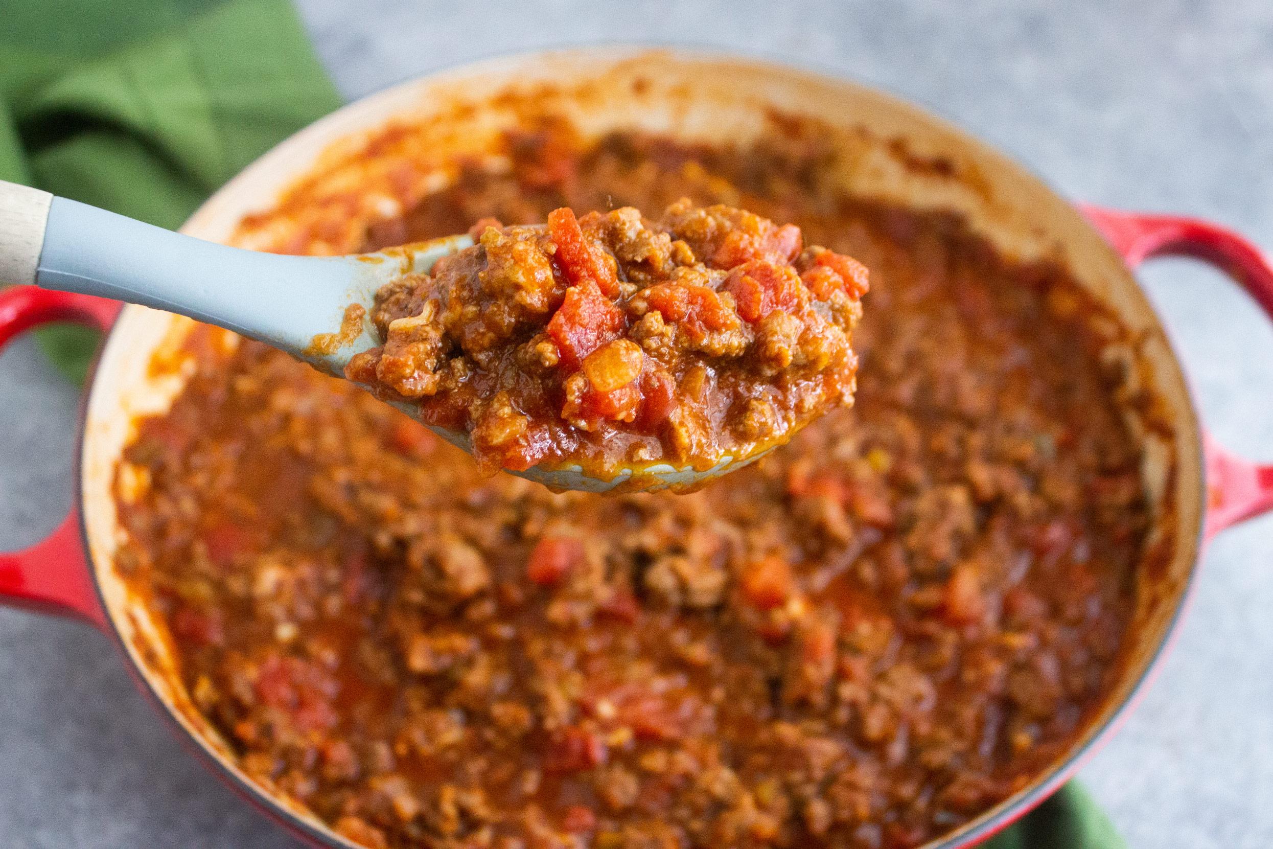 Spaghetti sauce, doctored up spaghetti sauce