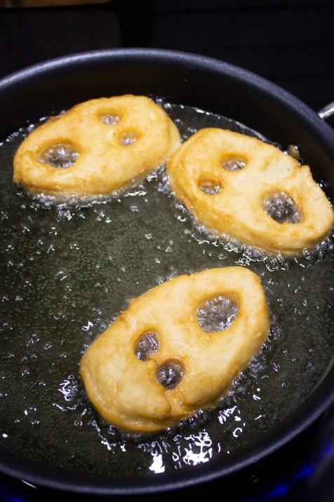 screaming ghost donuts, screaming halloween donuts