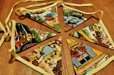 www.cocoandme.com - Coco&Me - coco and me - bunting with woodland animals - small