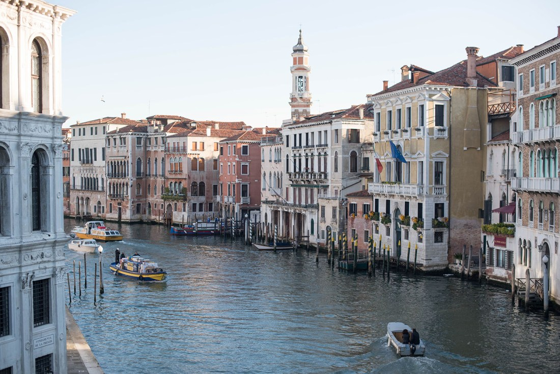 Photo of sunrise over the Grand Canal in Venice by travel blogger Cee Fardoe of Coco & Vera