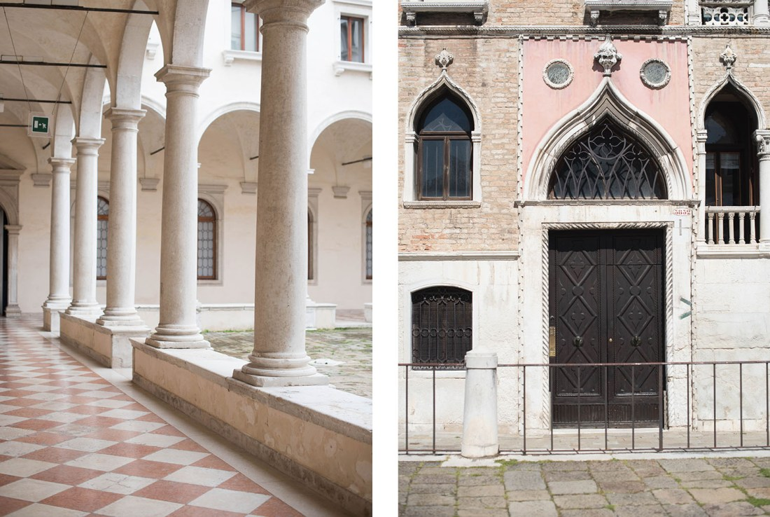 Snapshots of doors and columns of Venice by travel blogger Cee Fardoe of Coco & Vera