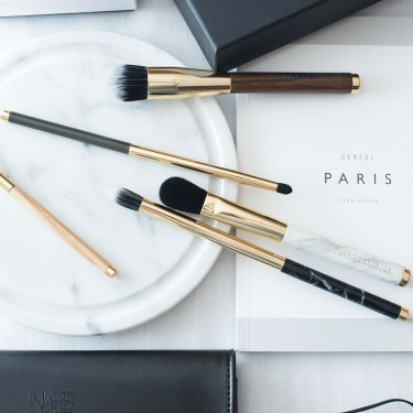 Nars x Charlotte Gainsbourg make-up brush set captured by beauty blogger Cee Fardoe of Coco & Vera