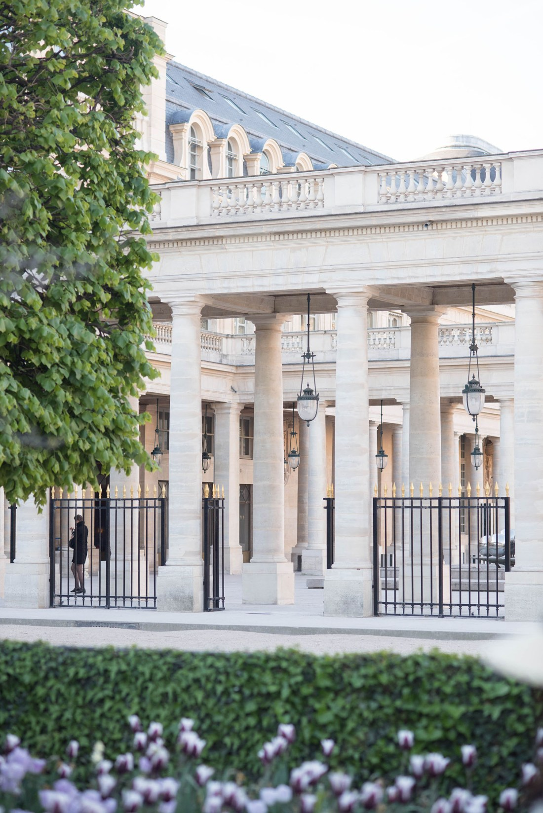 The columns of the Palais Royal, captured by travel blogger Cee Fardoe of Coco & Vera