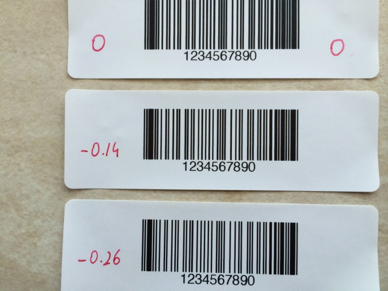 Barcode bar thinning