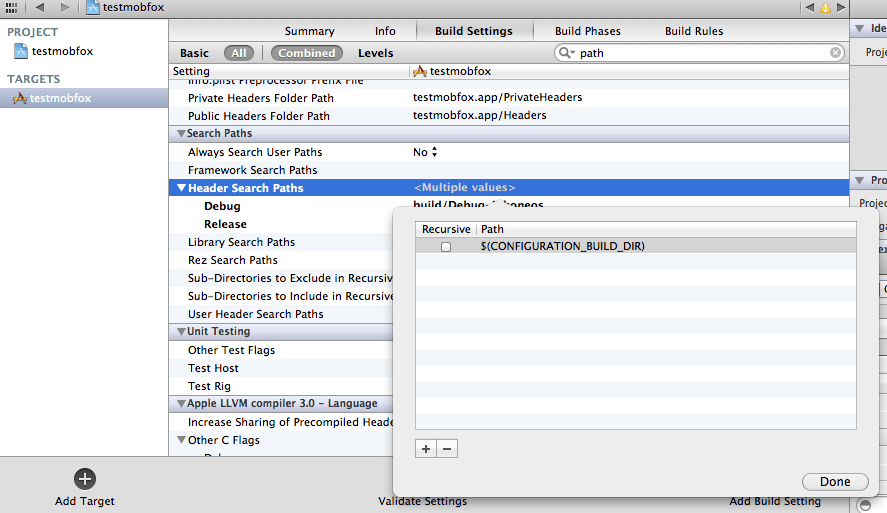 Helping Xcode Find Library Headers | Cocoanetics