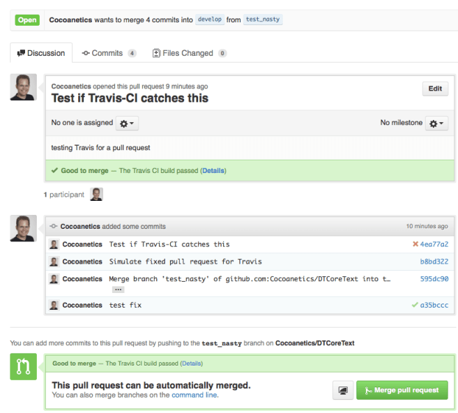 Travis Validating Pull Requests