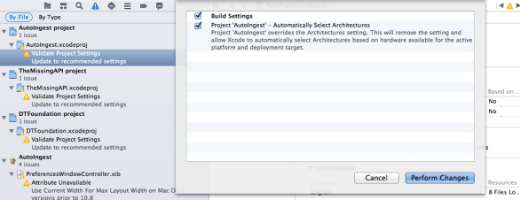 Remove Architectures Setting