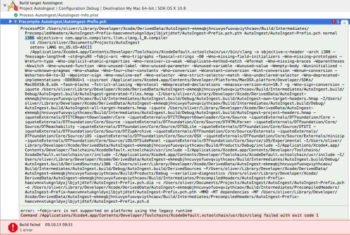 i386 PCH build failing