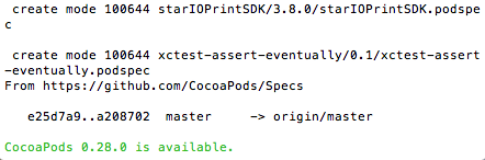CocoaPods Update Available