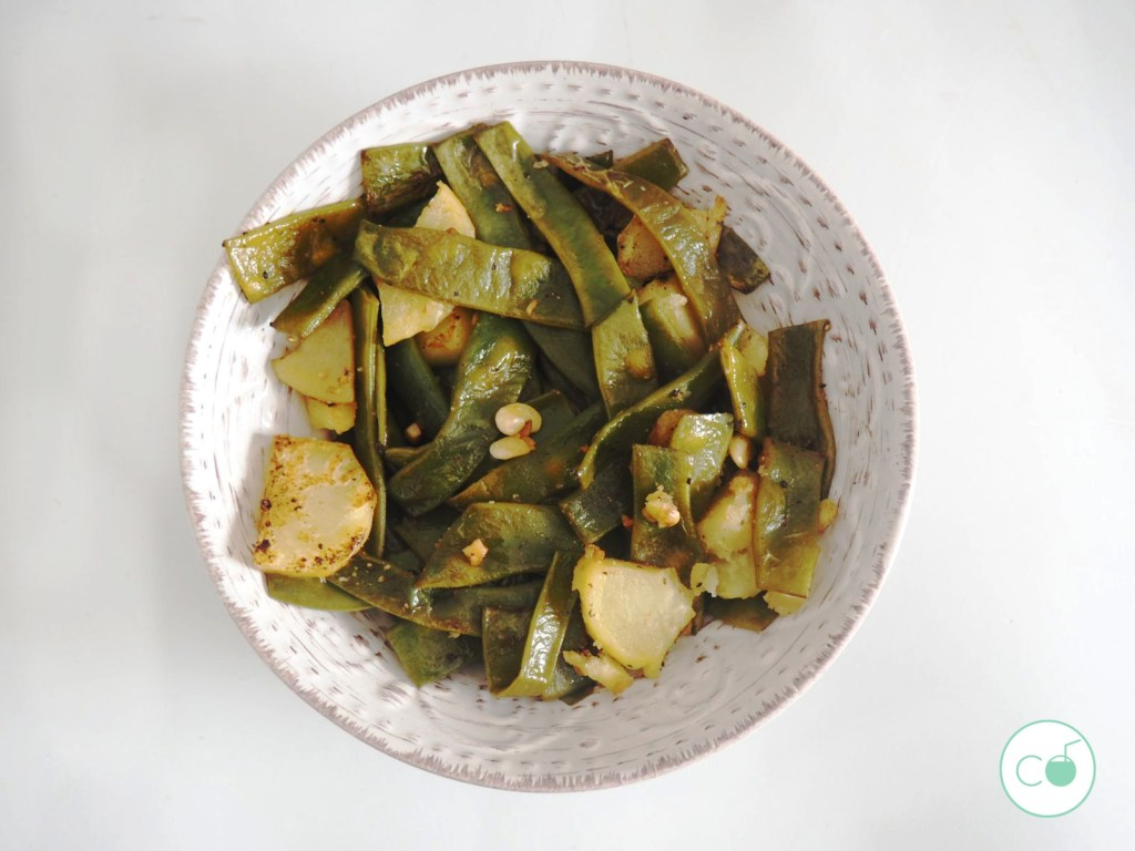 receta judías verdes veganas