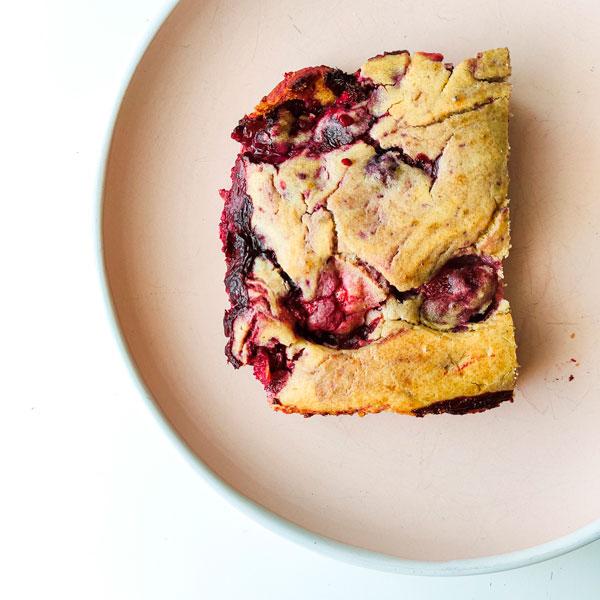 cobbler pastel fruta saludable