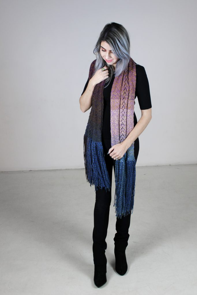 Chrisandra Knit Scarf free pattern by CoCo Crochet Lee for Furls