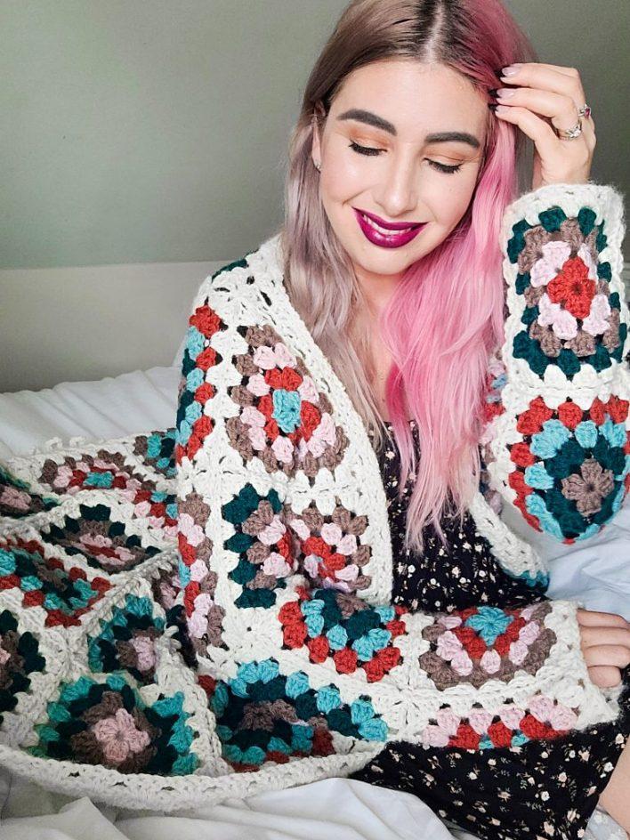 WIp Wednesday Cal - Lakeside Coatigan - CoCo Crochet Lee - Lion Brand Yarn - free crochet pattern