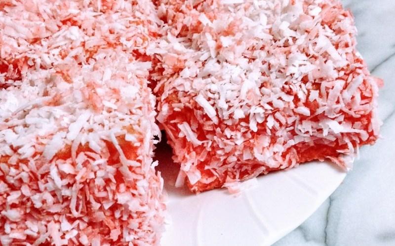 Pink Lamingtons