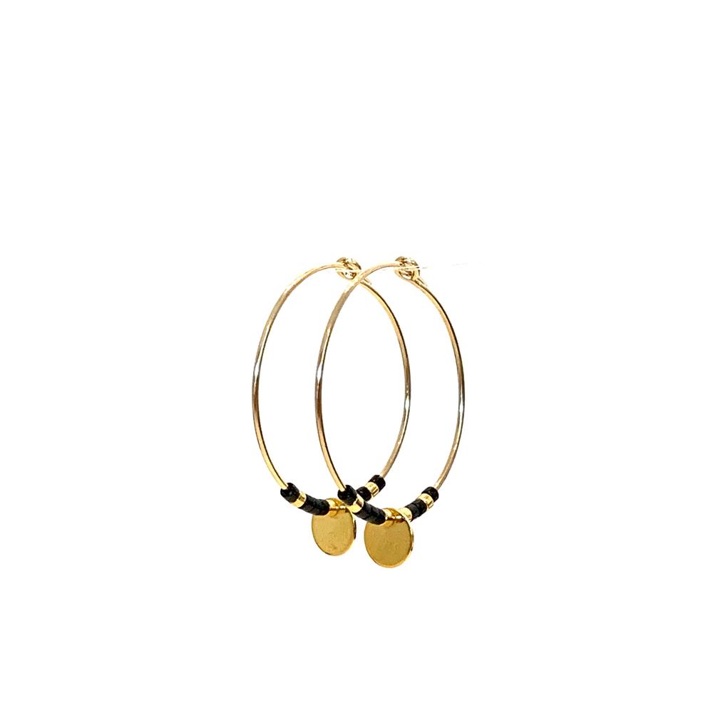 Morse code Earrings Love - black