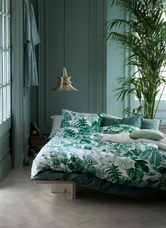 Du Vert Dans La Chambre Cocon Dco Amp Vie Nomade