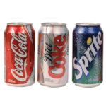 coke, diet coke, sprite