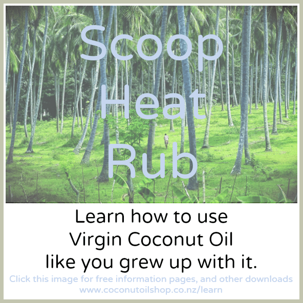 Scoop Heat Rub. 3 Coconut Oil Ways for everyday use.