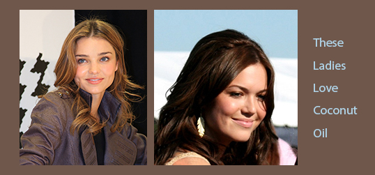 Coconut Oil and Celebrities Mandy Moore and Others
