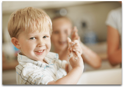 Milk Relief Soap Washing hands with soap