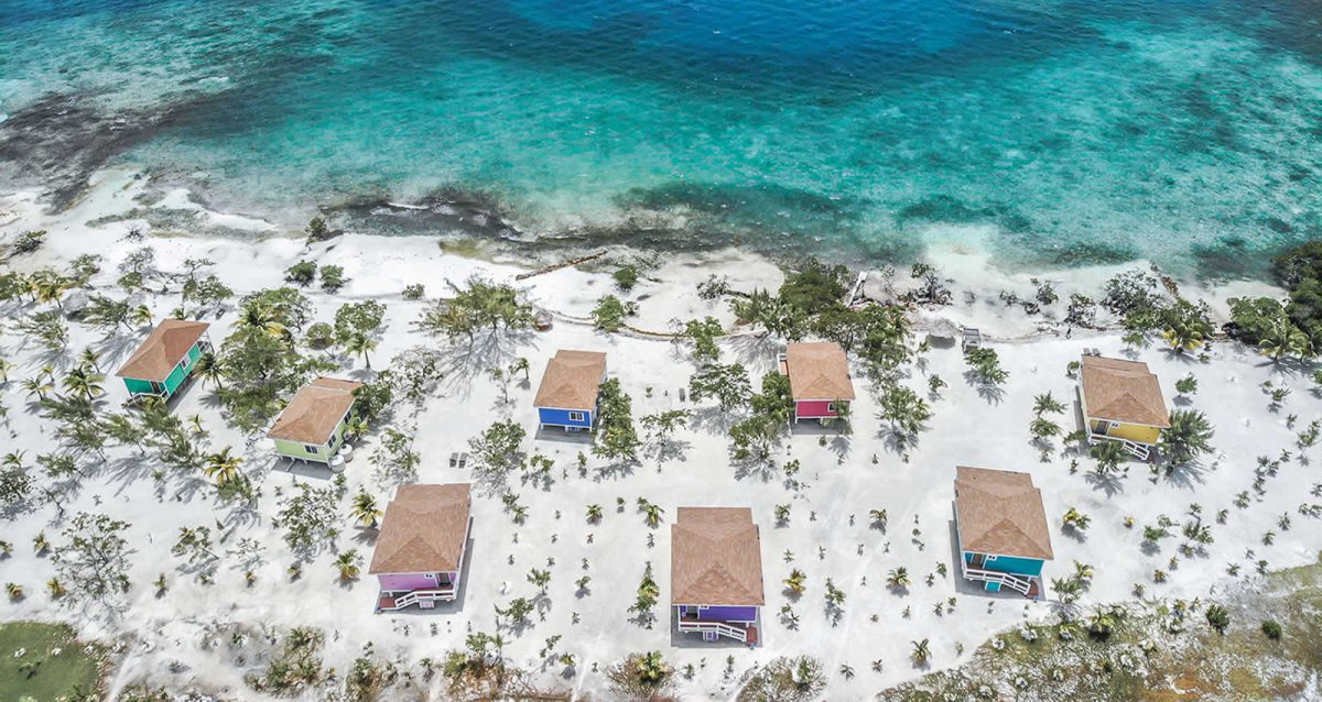 Belize Island - Aerial Island View