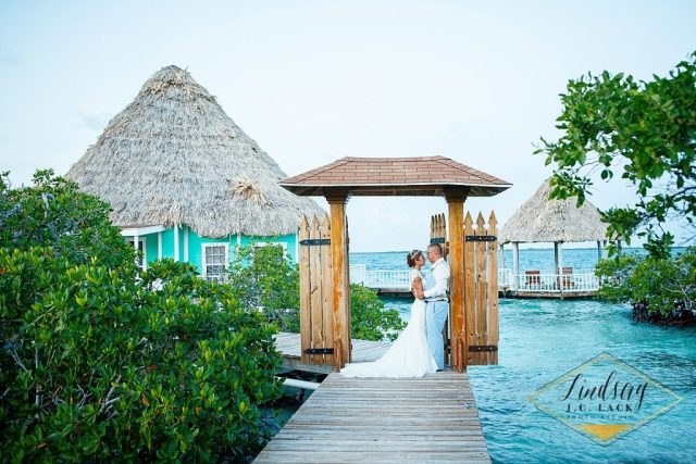 David and Ashely's Belize private island destination wedding