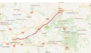 Route entlang der Loire