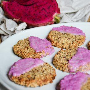 vegan-chewy-flax-seed-coconut-cookies-pitaya-lemon-glaze