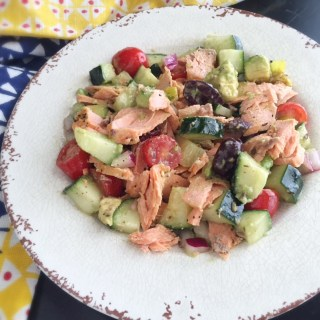 Simple Salmon w/Greek Salad