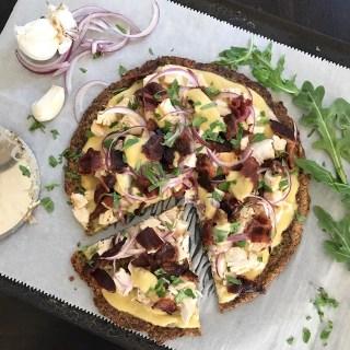 Garlic Chicken Cauli'flour Pizza