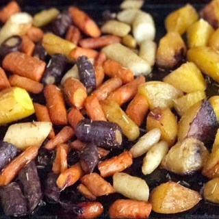 Butter Roasted Carrots and Golden Beets