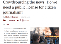 Crowd sourcing the news