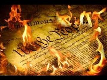 Constitution burned