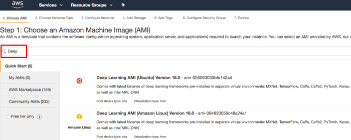AWS Tutorial: Deep Learning on Amazon Web Services ⋆ Code A