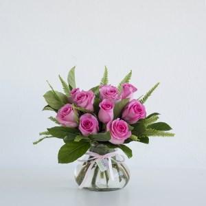 Roses in Posy Jar - Pink