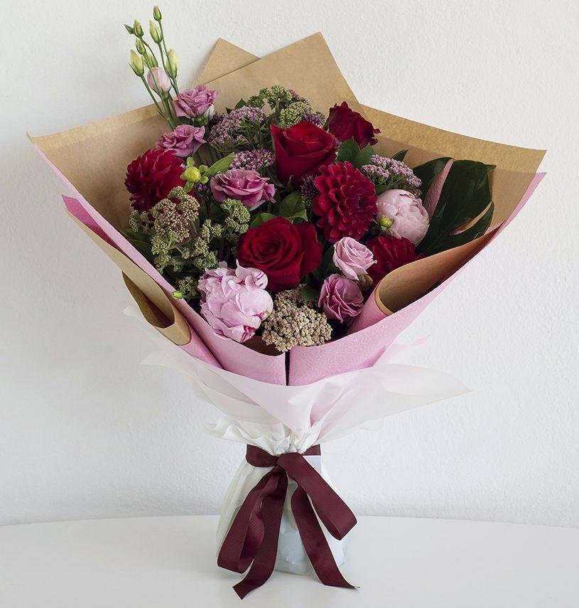 romantic bouquet for valentine's day in perth