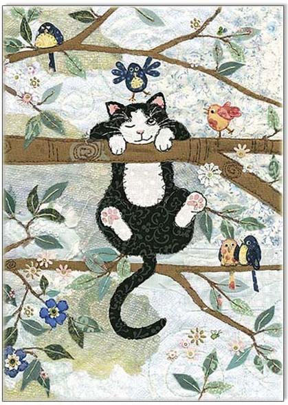 bug art cute cat card