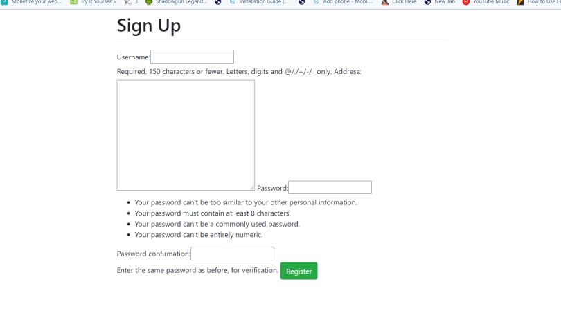 How To create Forms in Python django