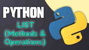 Python Basic: Lists methods and operations (Basic Guide)