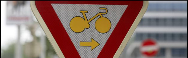 Panneau pour les cyclistes