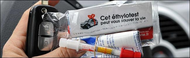 Distribution d'ethylotests pour les fêtes de fin d'année