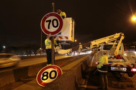 Installation des nouvelles limitations de vitesse sur le périphérique
