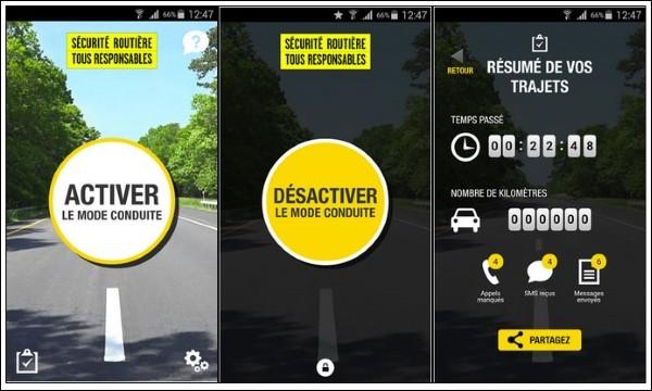 La nouvelle application de la sécurité routière