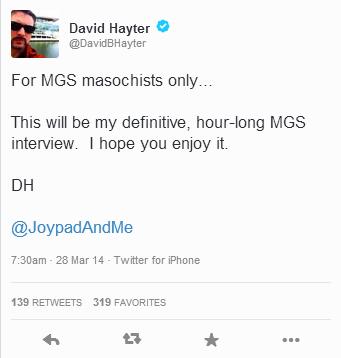 Hayter Tweet