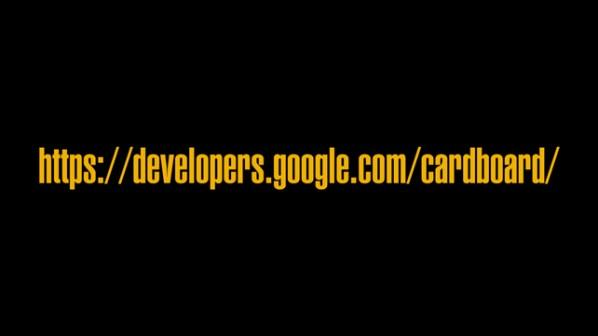 Google Cardboard Address Slide Article