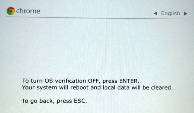 os verification off
