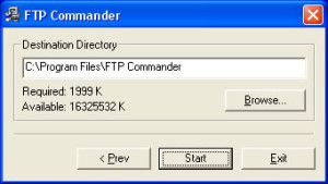 Upload a website using FTP Commander