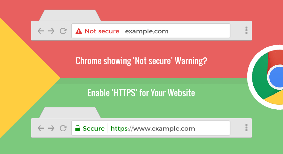 Enable HTTPS for your website Google Chrome 56