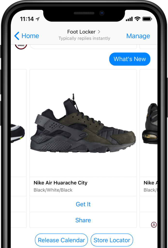 Nike chatbot example